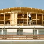 Dachkonstruktion Bauphase